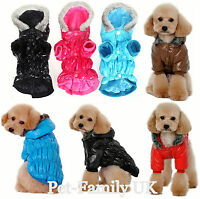 Dog puppy cat pet long lightweight waterproof warm rain coat jacket hoodie