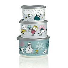 Tupperware - Peanuts Holiday Canister Set.