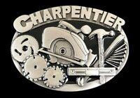 CARPENTER CHARPENTIER WORKSHOP HANDSAW TOOL CASUAL BELT BUCKLE BOUCLE CEINTURE