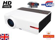 UK 1080P 5000 Lumen HDMI FULL HD Digital 3D Video TV LED Home Cinema Projector