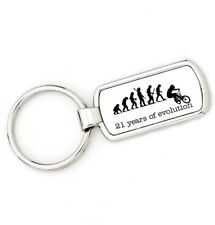 21st Birthday - BMX - Mans Evolution Key Ring®  Stunt Bike age keyring present
