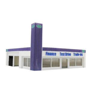 Outland Models Railway Scenery Car Dealership Building 1:87 HO Scale