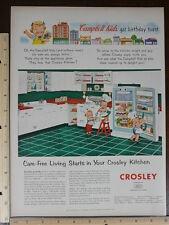 Rare Original VTG Campbell Soup Kids Crosley Kitchen Color Advertising Art Print