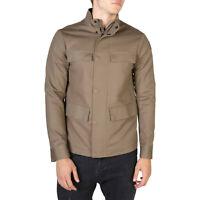EMPORIO ARMANI Men's Bomber Jacket Tan Brown w. Mandarin Collar New & Authentic