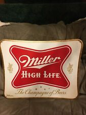 Lot of 5 Miller High Life Tin Embossed Beer Signs