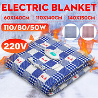 220V Single Bed Electric Heated Blanket Heating Mat Winter Warmer Thermostat