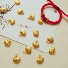 New Solid 24K Yellow Gold Pendant Lovely Fu Lucky Lock Pendant 足金 999 10mm H