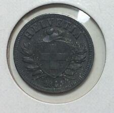 Switzerland 2 rappen 1945-B - About Uncirculated - Key date wartime zinc issue