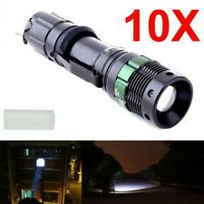 10pcs 8000 Lumen Zoomable CREE XM-L T6 LED Flashlight Torch Focus Bike Light AT