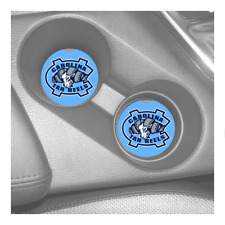 NORTH CAROLINA TAR HEELS  RUBBER CAR COASTERS SET (2) ACC