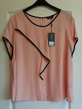 size 22 Marina Kaneva peach sheer top