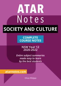 ATAR Notes Society and Culture Year 12 Notes