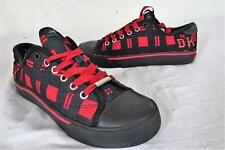 DKNY FX-514 Low-Rise Canvas Laced Shoe  Black/Red    US 6.5/UK 4.5   467 Y