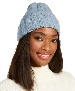 Marcus Adler Chunky Cable Knit Beanie Hat Blue NWT
