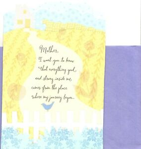 Happy Mother's Day Mother White Picket Fence Pop Up Hallmark Greeting Card