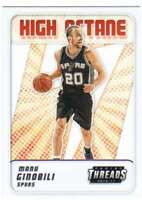 2016-17 Panini Threads High Octane Insert #5 Manu Ginobili Spurs