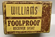 Vintage WILLIAMS Foolproof Receiver Sight-Empty Box - Nice Rifle Advertising