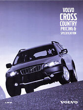 Volvo V70 XC Cross Country Specification 2000-01 UK Market Brochure 2.4T SE