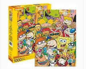 1000 piece Retro NICKELODEON Cast Puzzle Licensed SPONGEBOB RUGRATS REN & STIMPY
