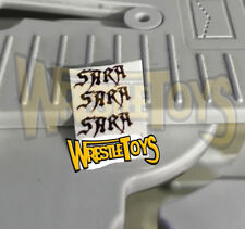 Undertaker SARA TATTOO DECALS for Custom Wrestling Figure Fix Up WWE American