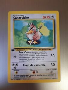 Pokémon Base Set FARFETCH'D 27/102 *1ST EDITION* FRENCH CANARTICHO