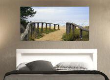 Quadro moderno Stampa su Tela Cotone cm.120x60 Mare Spiaggia Paesaggio Arredo