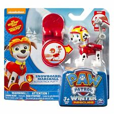 New EXCLUSIVE PAW PATROL NICKELODEON WINTER SNOWBOARD RESCUE MARSHALL ACTION PUP
