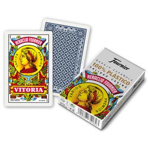 FOURNIER BARAJA  DE CARTAS ESPAÑOLA 100% PLASTICO 50 CARTAS / NAIPES