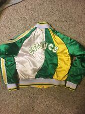 Boston Celtics Hardwood Classics Jacket Women's Medium Reversible Satin Bomber