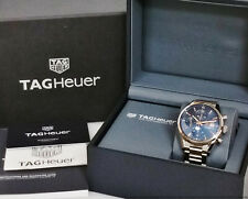 Tag Heuer Carrera Calibre 16 CBK2155 Chronograph Blue Dial Watch Box Papers
