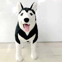Hot Black Husky Dog Doll Anime Plush animal Toys Emulational Stuffed Gifts 39''