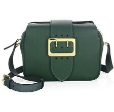 NWT Burberry Buckle Leather Camera Crossbody Bag Military Green (MSRP $920)