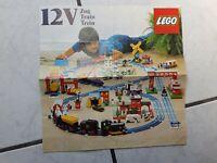 Lego Eisenbahn Prospekt 12 V  von  1976 -groß (vierseitig)