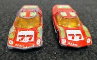 Lesney Matchbox Superfast Mazda Rx 500 No.66 Red 1971 Made in England Lot of Two