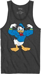 Buff Donald Duck Muscle Sleeveless Tee Adult Tshirt Graphic Men's Tank T-Shirt