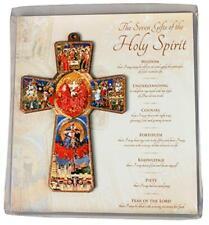 Holy Spirit Wooden Cross Religious Gift Ornament