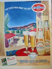 Vintage Carta Blanca Beer Print Ad Breweriana Bar Pub Man Cave Decor #1772