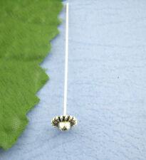 Nietstifte Kettelstift Zierkopf *55* silber filigranes Hütchen 55mm 2x