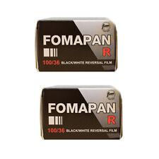2 Rolls Foma  Fomapan R100 35mm 135-36  B&W Reversal Slide Film Fresh 2022