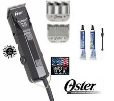 OSTER PRO TURBO Hair Stylist Barber CLIPPER KIT w/# 1 & 000 Detachable Blade SET