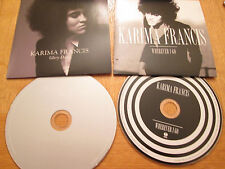 2 X Karima Francis Promo CD's  2012 - Wherever I Go / Glory days