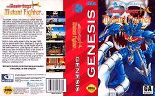Mazin Saga Mutant Fighter Sega Genesis USA remplacement Box Art Case Insert Cover