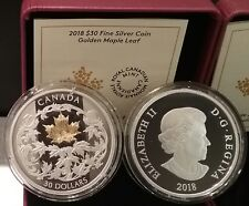 2018 Good Luck Charms Five Blessings Bats $8 2//3OZ Silver Proof CanadaHoled Coin