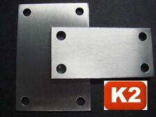 Edelstahl Ankerplatte,Grund-platte,150x100x8 mm,gebohrt,Anschweiß-V2A-Blech