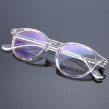 Vintage Eyeglass Frame Retro clear transparent Full Rim Plain Glasses Spectacles