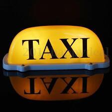 Taxi Dachschild Taxischild  Dachzeichen ABS Lampe Licht Gelb Beleuchtung 12V