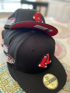 Hat Club Exclusive Red Bottom Boston Red Sox Fitted Hat Size 7- 5/8
