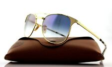 NEW Genuine Ray-Ban SIGNET Gold Light Blue Gradient Sunglasses RB 3429-M 001/3F