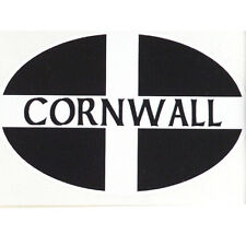 Cornish St Piran's Flag bumper sticker car decal Made in Cornwall Flag  gift