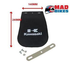 KAWASAKI LOGO MOTORCYCLE  MUD FLAP LARGE  140mm X 240mm